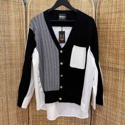 Pull chemise Constance Noir