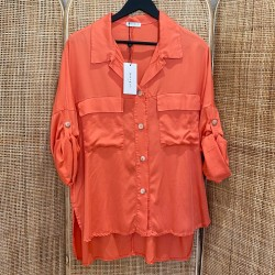 Chemise Tencell corail