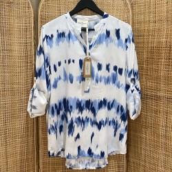 Chemise Tie & Dye bleu