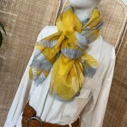 Foulard Feuilles jaune