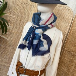 Foulard Graphique bleu