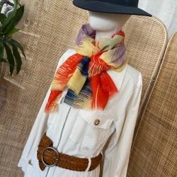 Foulard palme orange