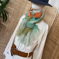 Foulard palme vert