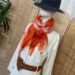 Foulard Feuilles orange