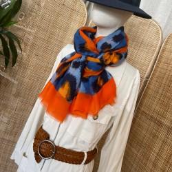 Foulard Empreintes orange