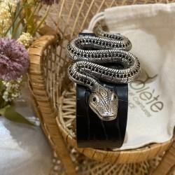 Serpent / caïman noir 85